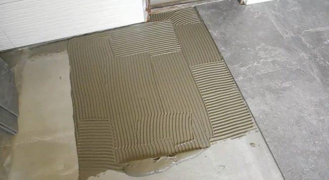 Как снять плиточный клей: с плитки, с пола, с гипсокартона