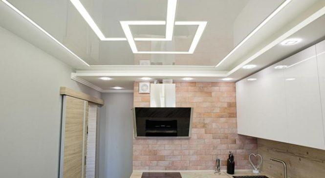 Натяжные потолки для кухни: красота, стиль, практичность